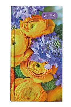 Pocket Diary 2018 - Yellow Floral