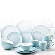 16-Piece Turquoise and White Stonew...