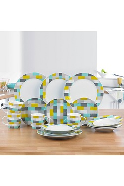 16 Piece Rectangles Dinner Set
