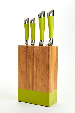 4-Piece Wooden Lime Knife Block