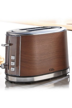 Stainless Steel Wooden Finish 2-Sli...