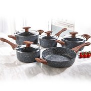 5-Piece Cookware Set With Wood-Effe...