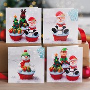 Pack Of 10 Christmas Cupcakes Cards