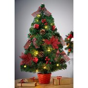 60cm Lit Frosted Green Tree With De...