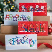 Pack Of 10 Christmas Friends Cards