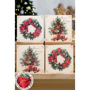 12 Christmas Tree and Wreath Cards