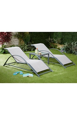 Pair Of Oklahoma Loungers With Side...