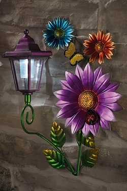 Solar Wall Plaque - Flower