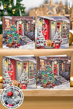 Pack Of 12 Christmas Morning Cards