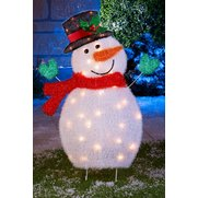 LED Tinsel Snowman