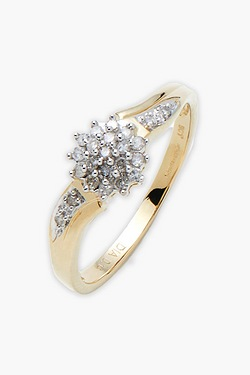 9ct Yellow Gold 1/4 Carat Diamond Ring