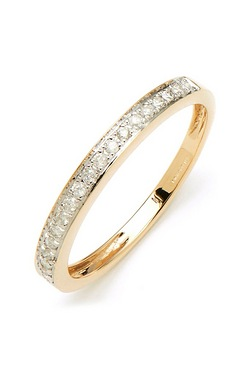 9ct Yellow Gold 20pt Diamond Ring