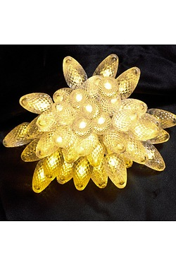 100 Static LED Pine Cone Lights