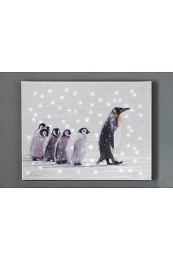 Follow Me Penguin Canvas