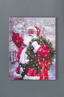 Waving Santa Canvas