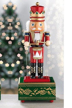 Wooden Musical Nutcracker Drummer