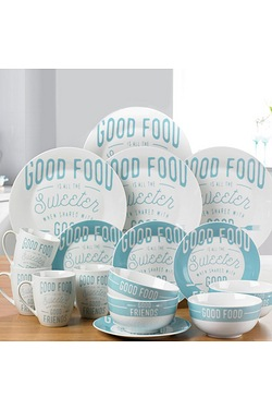 "16-Piece Porcelain ""Good Food&#..."