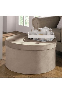 Natural Round Storage/Coffee Table