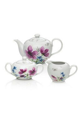 Sabichi Lydia Porcelain 3 Piece Tea...