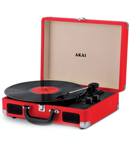 Image for AKAI Bluetooth Rechargeable Suitcase Style Turntable from studio
