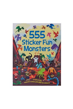 555 Sticker Fun - Monster