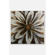 Brushed Metal Flower Wall Art