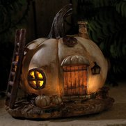 Solar Pumpkin Fairy House