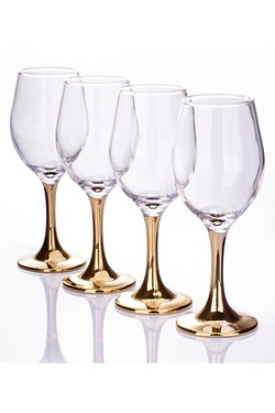 4 Piece Stem Wine Glasses