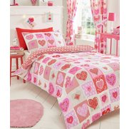 Lace Hearts Duvet Set