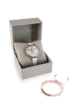 Lola Rose White Watch + Quartz Brac...