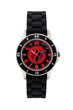 Spiderman Time Teacher Watch Black