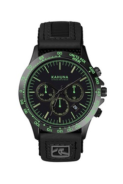 Mens Black Chronograph Watch
