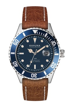 Mens Kahuna Tan Leather Watch