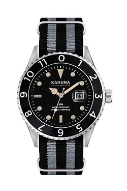 Mens Kahuna Grey And Black Nato Str...