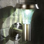 Solar Stainless Steel Wall Light