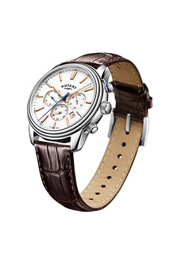 Gents Rotary Monaco steel strap watch.