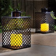 Pair of Cairene Lanterns With Flick...