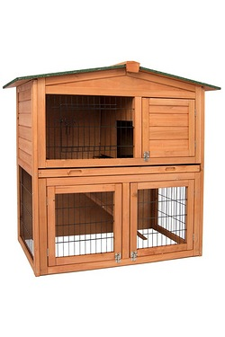 Pet Vida 2 Tier Wooden Pet Hutch