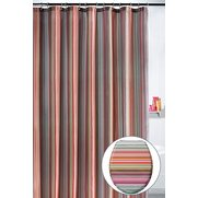 Coloured Stripe Shower Curtain And ...
