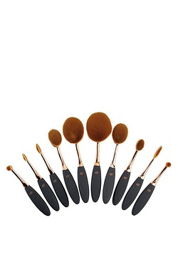10-Piece Oval Make-Up Brushes