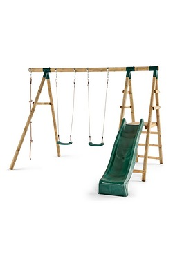 Giant Baboon Wooden Garden Swing Set