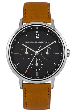 French Connection Tan Leather Strap...