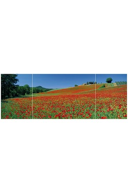 Field Of Poppies Triptych Jigsaw