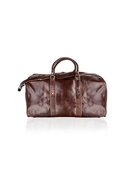 Woodland Leather Brown Holdall