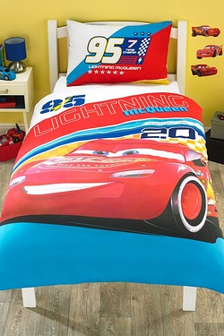 Cars Lightning Single Panel Duvet Set