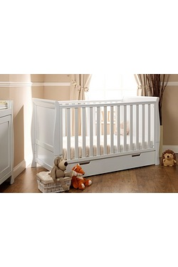 Obaby Stamford Cot Bed - White