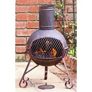 Gardeco Lexie Small Steel Chimenea