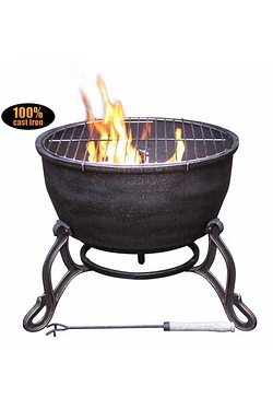Gardeco Elidir Cast Iron Fire Bowl