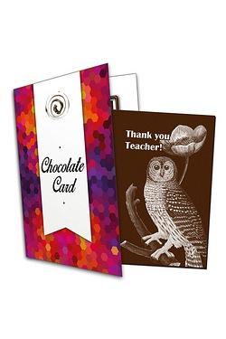 Thank You Teacher Chocolate Card
