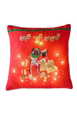 Pugs And Kisses Light Up Cushion
